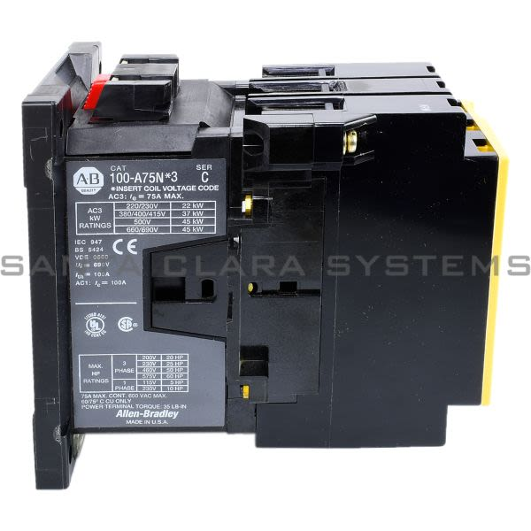 Allen Bradley 100-A75ND3 Contactor Product Image