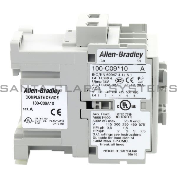 Allen Bradley 100-C09A10 Contactor Product Image