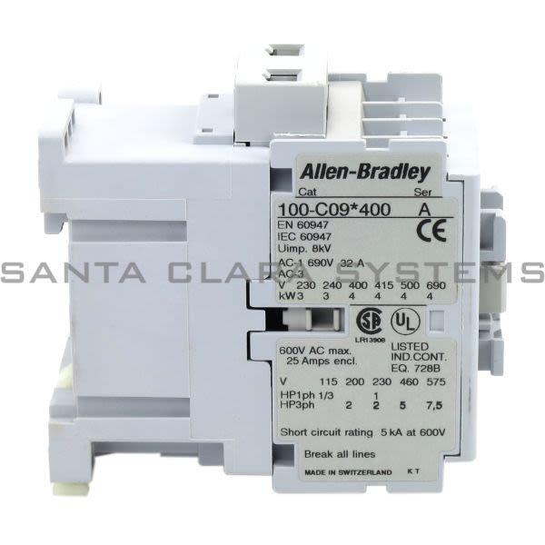 Allen Bradley 100-C09A400 Contactor Product Image
