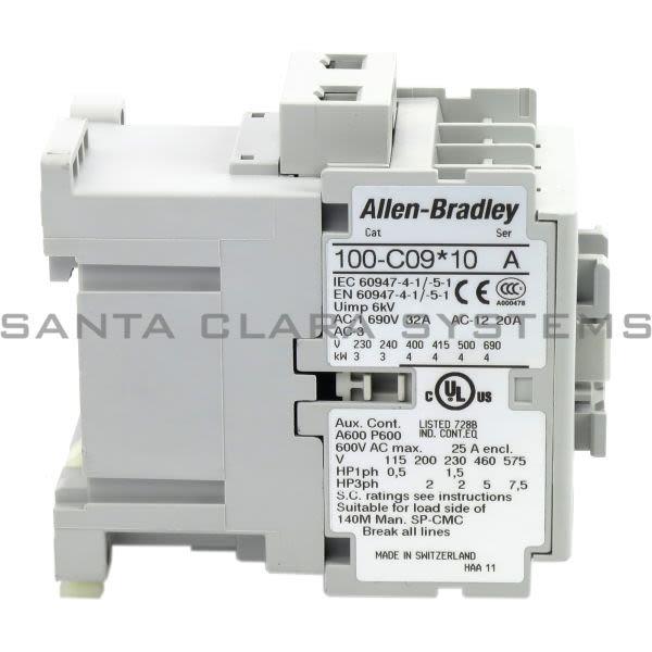 Allen Bradley 100-C09B10 Contactor Product Image
