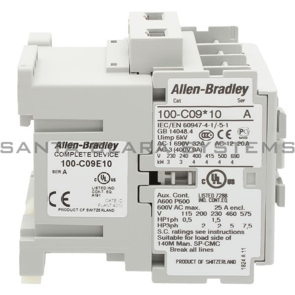 Allen Bradley 100-C09E10 Contactor 380V 60Hz Product Image
