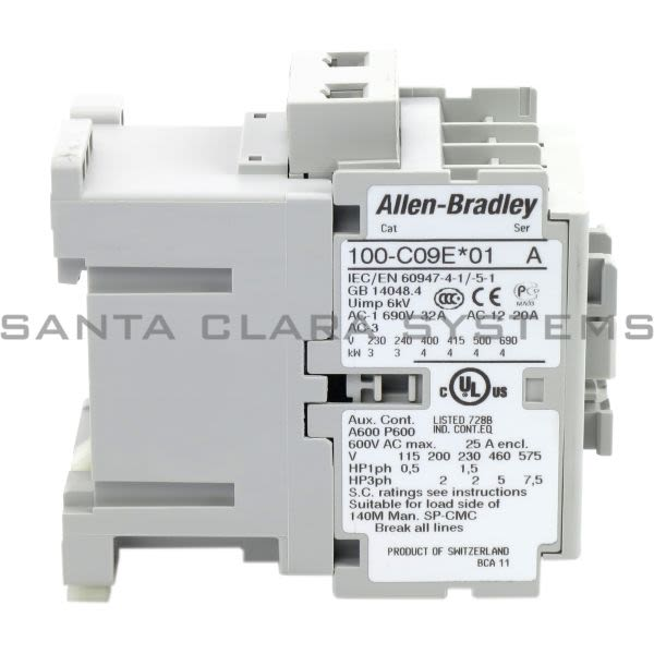 Allen Bradley 100-C09EJ01 Contactor Product Image