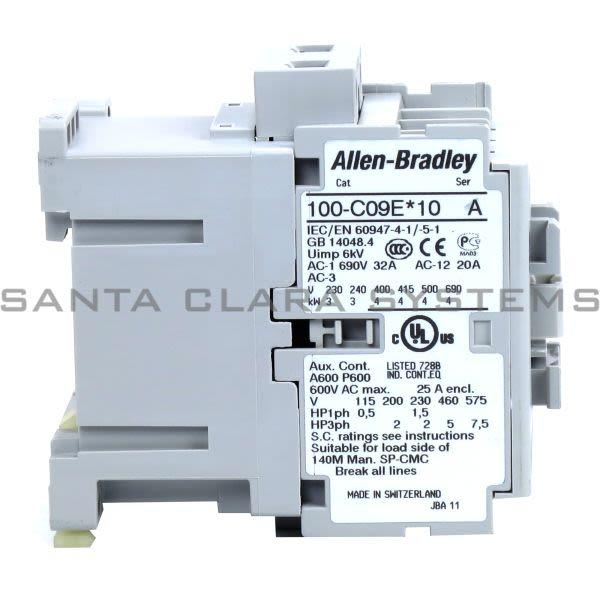 Allen Bradley 100-C09EJ10 Contactor Product Image