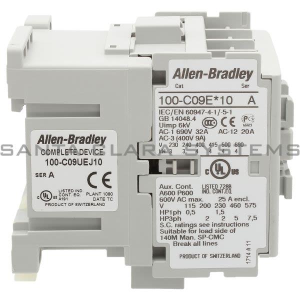 Allen Bradley 100-C09UEJ10 Contactor Product Image