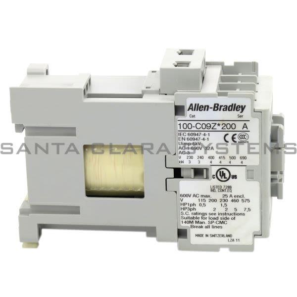 Allen Bradley 100-C09ZJ200 Contactor Product Image