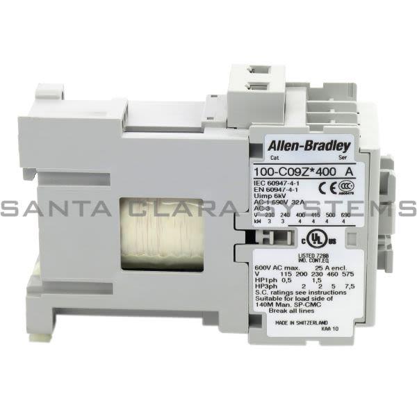 Allen Bradley 100-C09ZJ400 Contactor Product Image