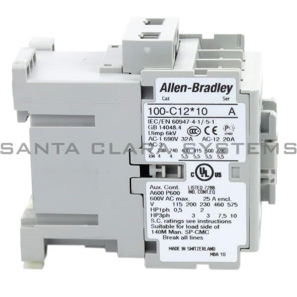 Allen Bradley 100-C12D10 Contactor Product Image