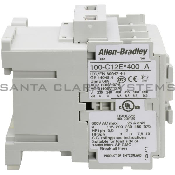 Allen Bradley 100-C12EJ400 Contactor Product Image
