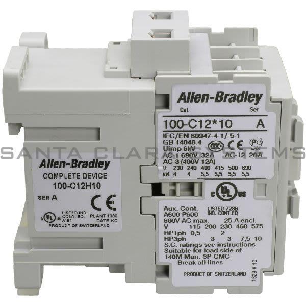 Allen Bradley 100-C12H10 Contactor Product Image