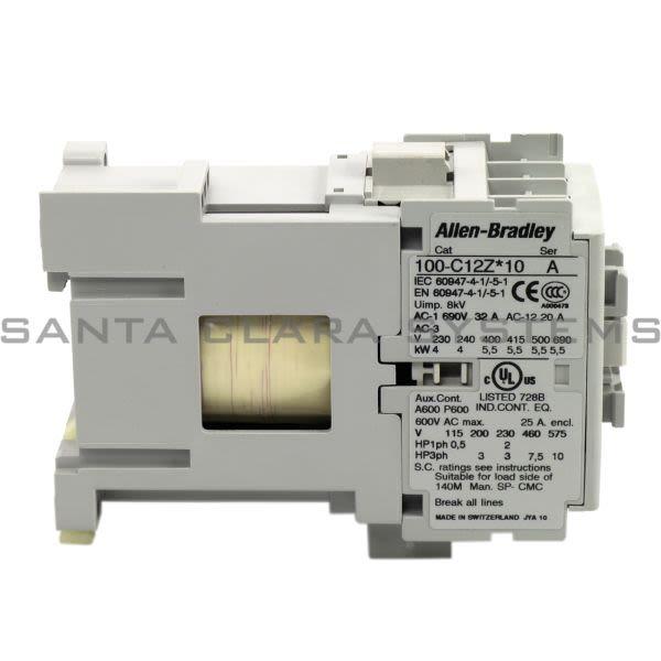 Allen Bradley 100-C12UZJ10 Contactor Product Image