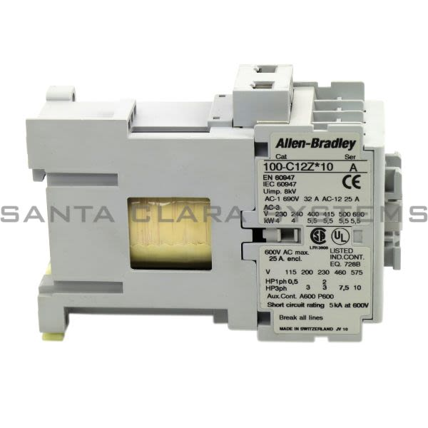 Allen Bradley 100-C12ZJ10 Contactor Product Image