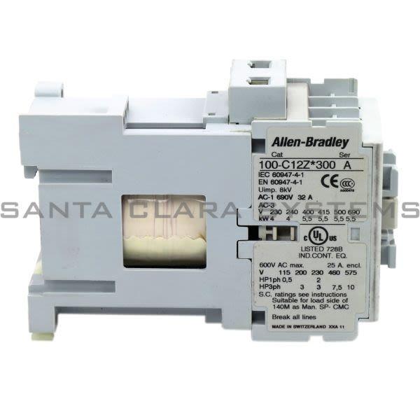 Allen Bradley 100-C12ZJ300 Contactor Product Image