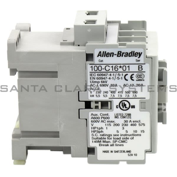 Allen Bradley 100-C16A01 Contactor Product Image