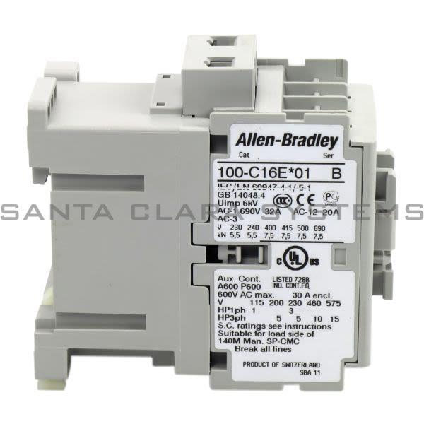 Allen Bradley 100-C16EJ01 Contactor Product Image
