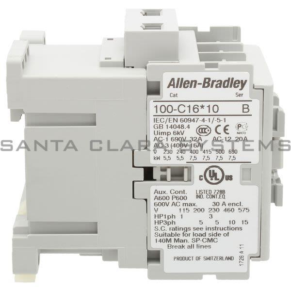 Allen Bradley 100-C16KF10 Contactor Product Image