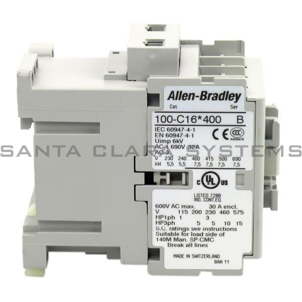 Allen Bradley 100-C16KG400 Contactor Product Image