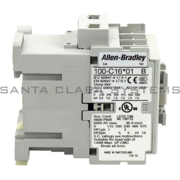 Allen Bradley 100-C16KJ01 Contactor Product Image