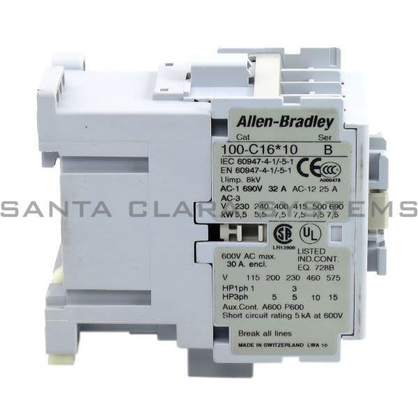 Allen Bradley 100-C16UD10 Contactor Product Image