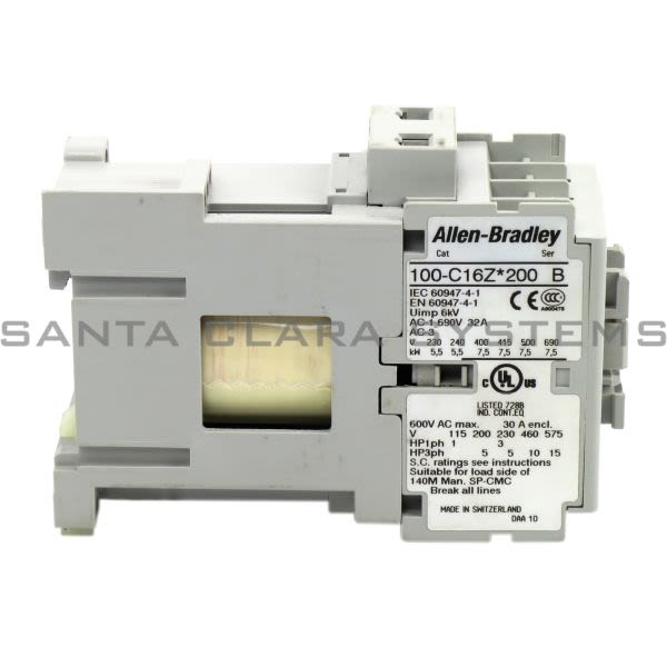 Allen Bradley 100-C16ZS200 Contactor Product Image