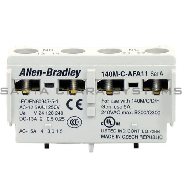 Allen Bradley 140M-C-AFA11 Auxiliary Contact Block Product Image