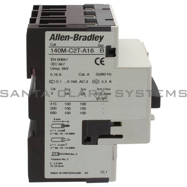 140m c2t a16 allen bradley in stock and ready to ship for Allen bradley motor overload
