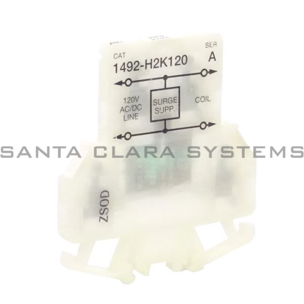 Allen Bradley 1492-H2K120 Finger-Safe Double Circuit Surge Suppressor Block Product Image