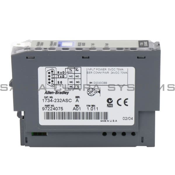 Allen Bradley 1734-232ASC Point I/O RS232 ASCII Interface Product Image