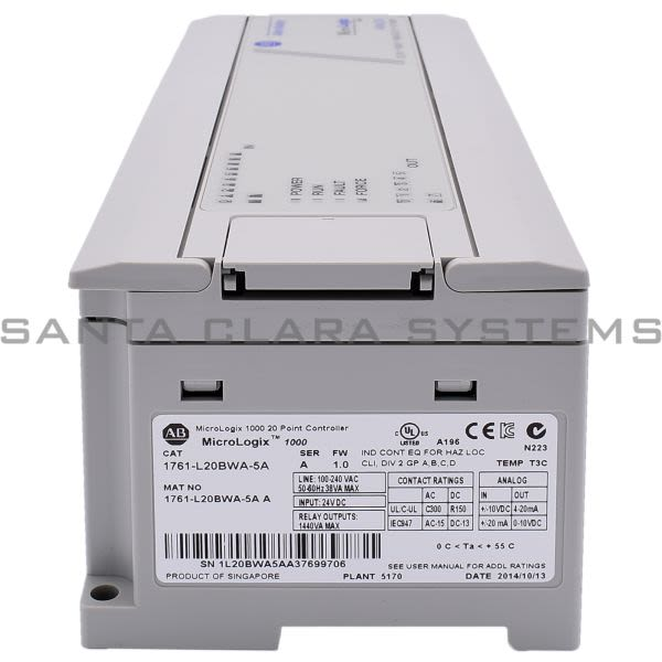 1761-L20BWA-5A Allen Bradley In stock and ready to ship - Santa ...