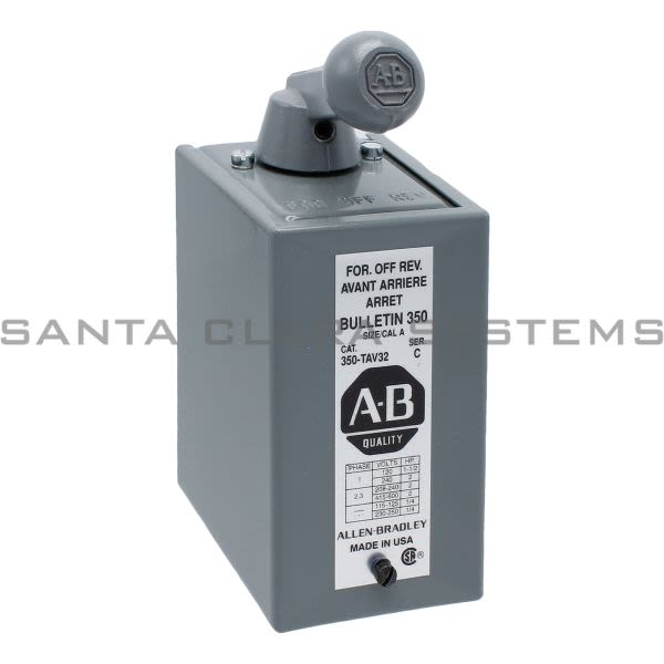 Allen Bradley 350-TAV32 Reversing Drum Switch Product Image