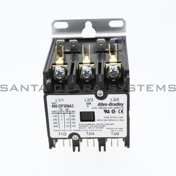 Allen Bradley 400-DP30NA3 Definite Purpose Contactor 30A Product Image