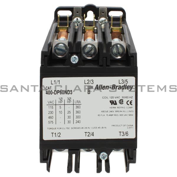 Allen Bradley 400-DP60ND3 Definite Purpose Contactor Product Image
