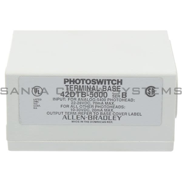 Allen Bradley 42DTB-5000 PhotoSwitch Base Product Image