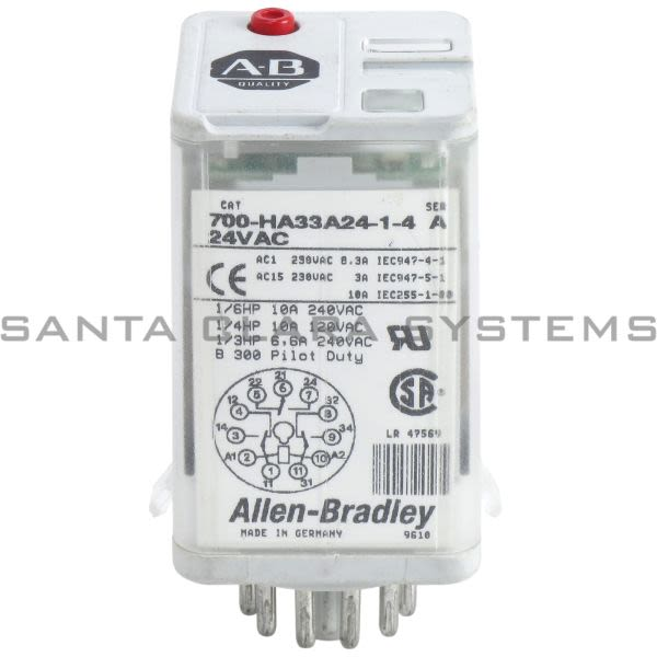 Allen Bradley 700-HA33A24-1-4 Relay Product Image
