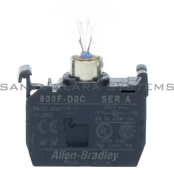Allen Bradley 800F-D5C Incandescent Module, Latch Mount Product Image