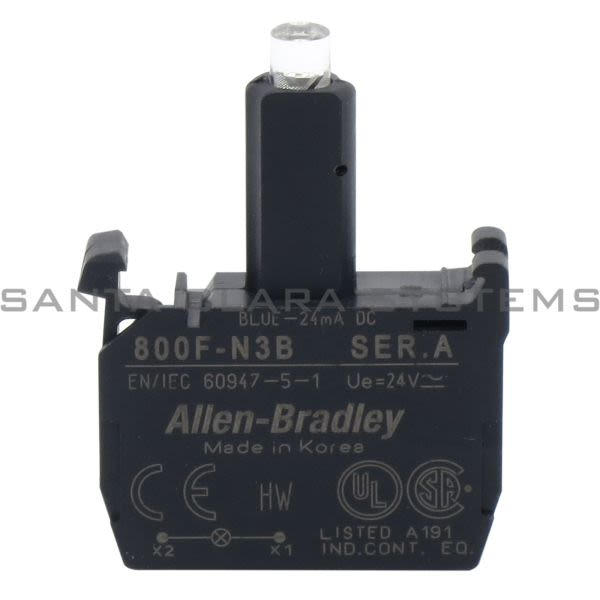 Allen Bradley 800F-N3B Integrated LED Latch Mount Product Image