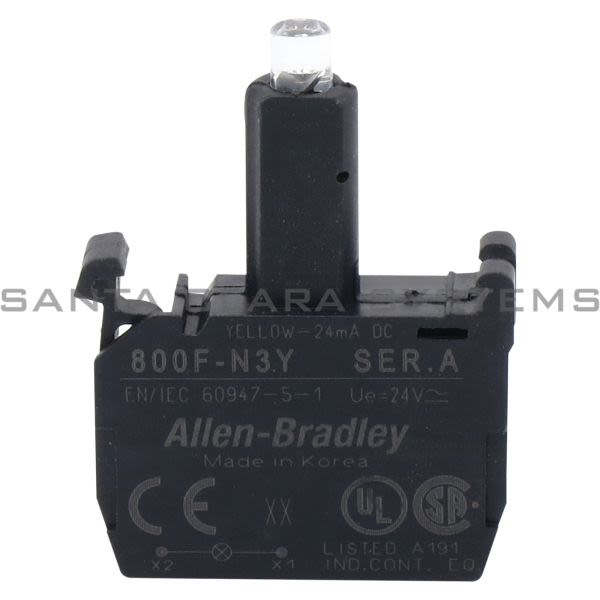 Allen Bradley 800F-N3Y  Integrated LED Latch Mount Product Image