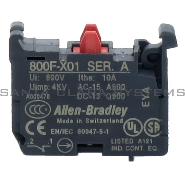 Allen Bradley 800F-X01 Auxiliary Contact Block Product Image