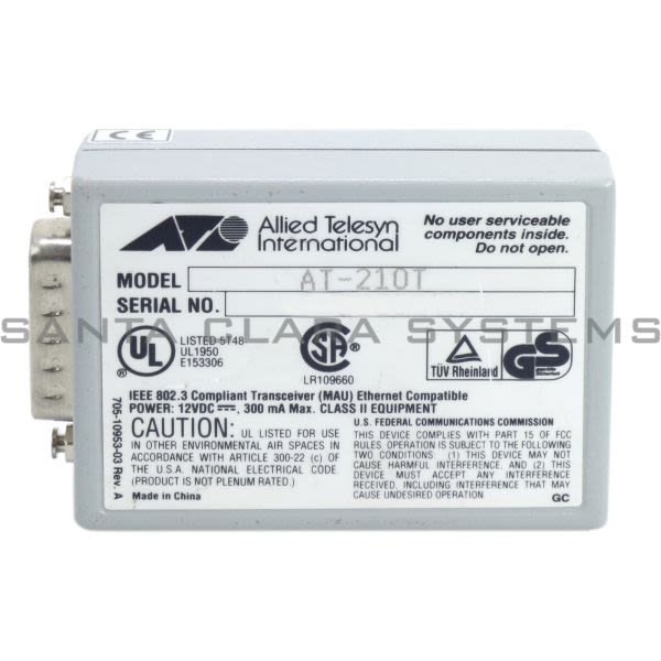Allied Telesis AT-210T Transceiver | Allied Telesyn Product Image