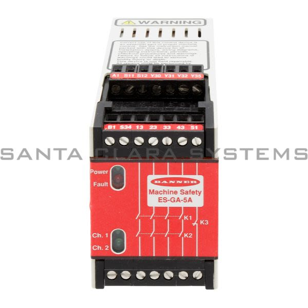 Banner ES-GA-5A-50651 Safety Relay Product Image