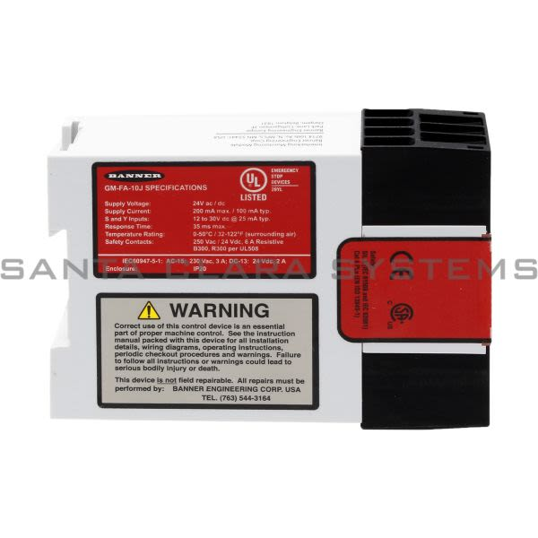 Banner GM-FA-10J-60987 Safety Module Product Image