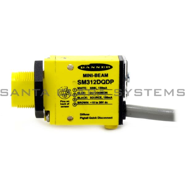 Banner SM312DQDP-29539 Diffuse Sensor | MINI-BEAM Product Image