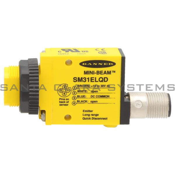 Banner SM31ELQD-26952 Opposed Sensor | Emitter | MINI-BEAM Product Image