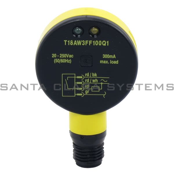 Banner T18AW3FF100Q1-33410 Fixed Field Sensor | EZ-BEAM Product Image