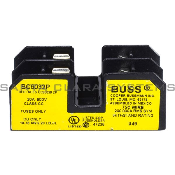 Bussmann BC6032P Fuse Holder Product Image