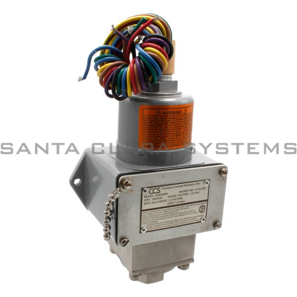 Custom Control Sensors 646DZEM1 Pressure Switch Product Image