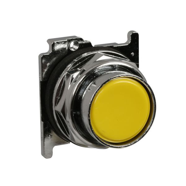 Cutler-Hammer 10250T104  Push Button Yellow Flush | Eaton 10250T-104 Product Image