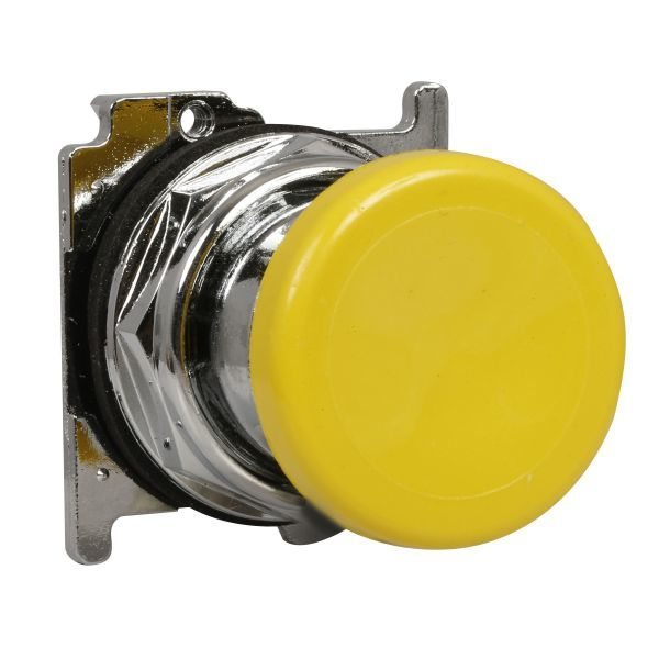 Cutler-Hammer 10250T124 Pushbutton Yellow Mushroom | 10250T-124 Eaton Product Image