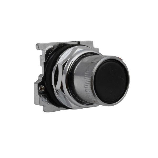 Cutler-Hammer 10250T2411-1 Pushbutton Roto Black Flush Product Image
