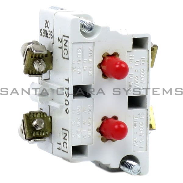 Cutler-Hammer 10250T3 Contact Block 10amp 2NC Product Image