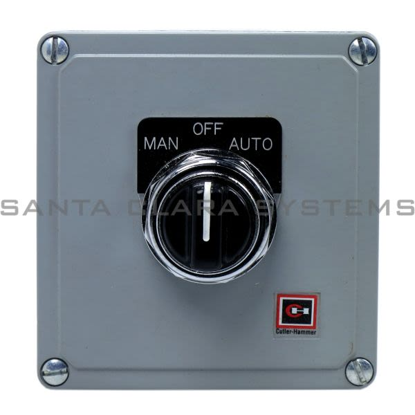 Cutler-Hammer 10250T3524 Enclosed Push Button 3-Position Man/Off/Auto | 10250T-3524 Product Image
